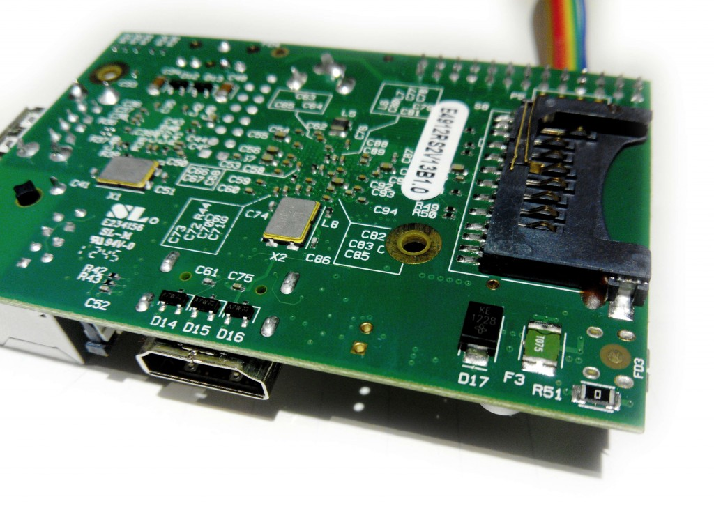The F3 polyfuse (green) is located at the bottom right of the board, next to the zero ohm resistor.